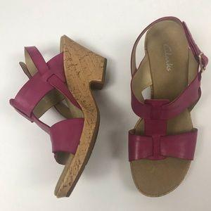 New Clark's Heeled Sandals